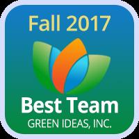 Badge 2017 Best Team Green Ideas