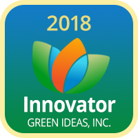 Badge 2018 Innovator Green Ideas