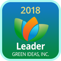 2018 Green Ideas Leader Badge.